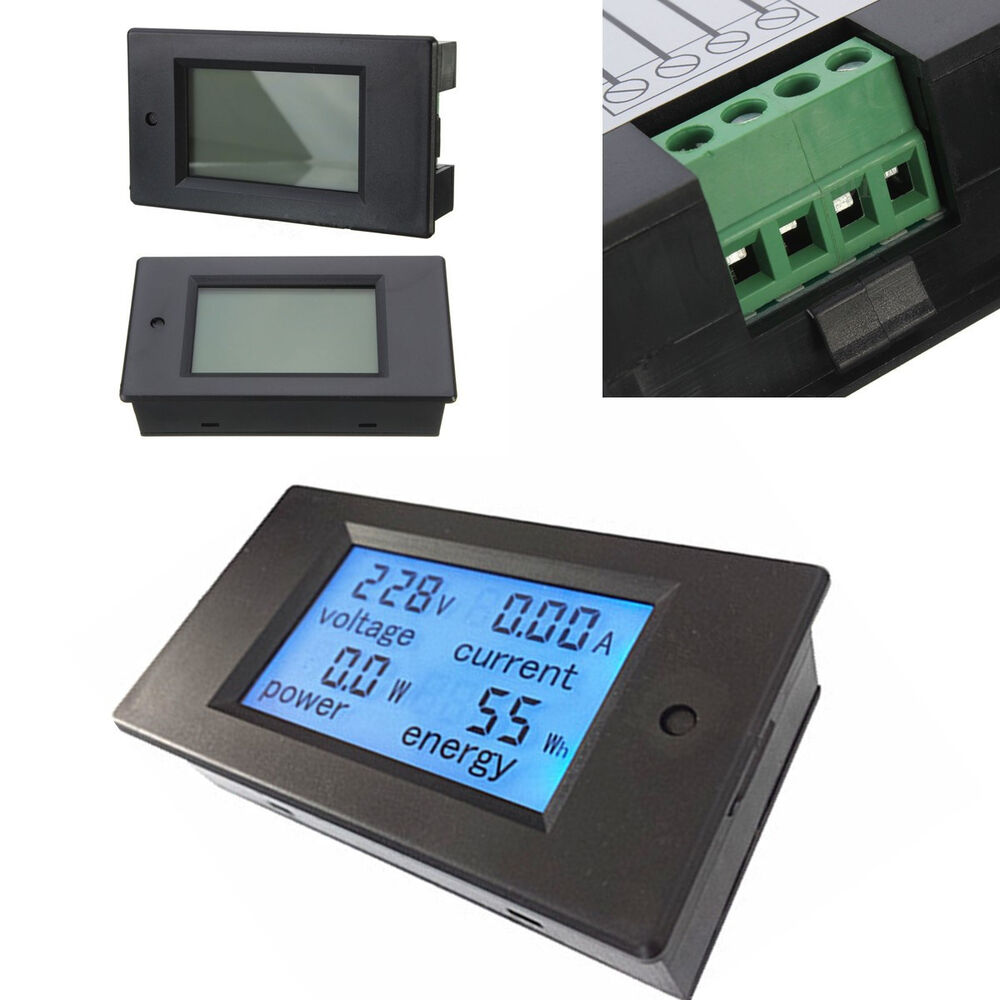 1000 Amp Battery Monitor : Dc a w volt amp ah power capacity percent battery