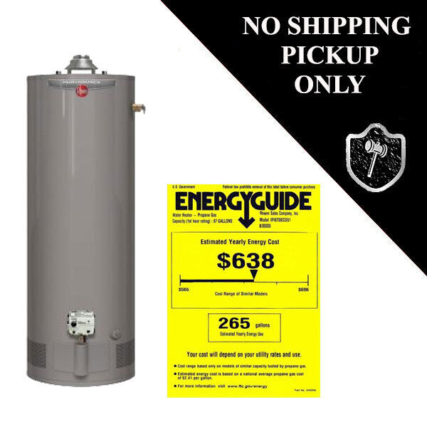 Natural Gas Shop Heater >> Rheem 40 Gal. Water Heater XP40T06EC32U1 Tall 6 Year LP Liquid Propane Gas | eBay