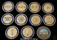 US NAVY OFFICER CHALLENGE 10 COIN RANK SET USN RETIREMENT PIN UP PROMOTION GIFT