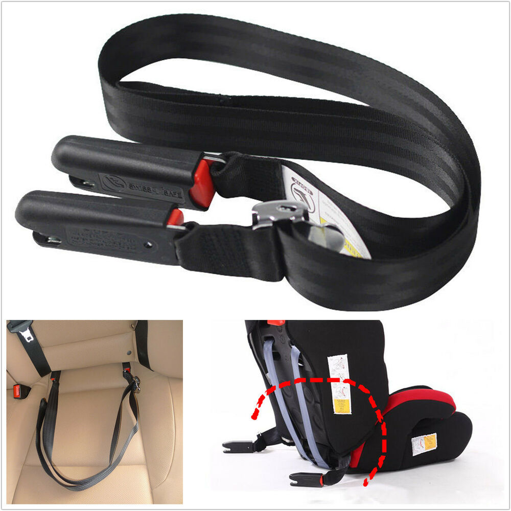 universal car adjustable baby safety seat soft link belt anchor holder isofix ebay. Black Bedroom Furniture Sets. Home Design Ideas