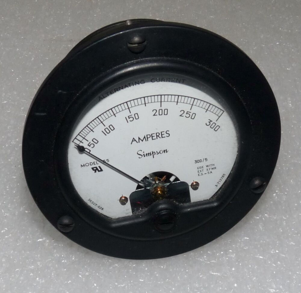 Simpson Electric Ac High Voltage Probe : Simpson electric panel meter to aca black
