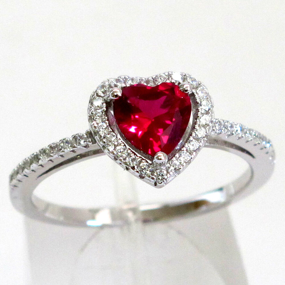 delightful cut ruby 925 sterling silver ring size 5