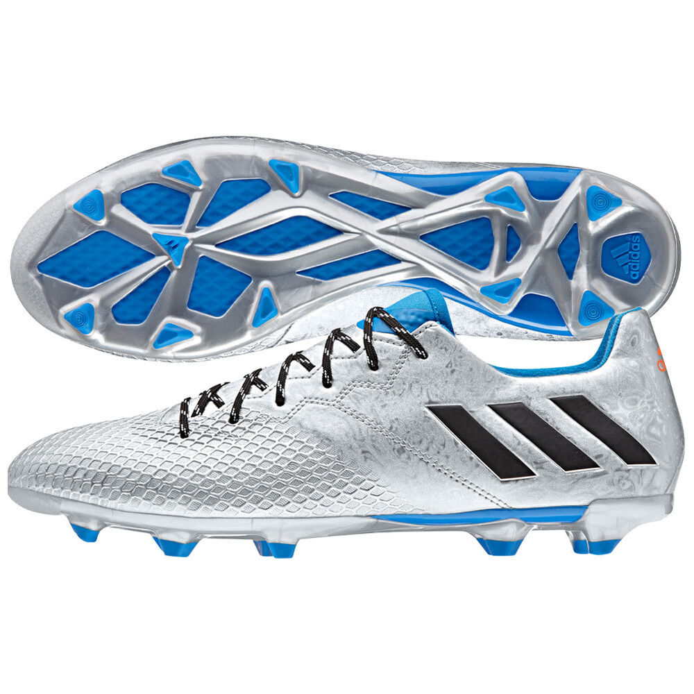 9b56d817812 Details about adidas 16.3 TRX FG Messi 2016 Soccer Shoes Silver - Blue -  Black Kids Youth