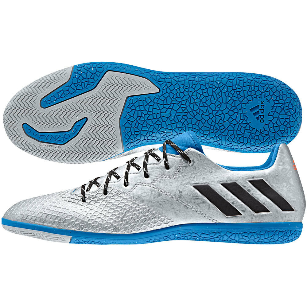 adidas 16.3 IN Messi 2016 Indoor Soccer Shoes Silver ...