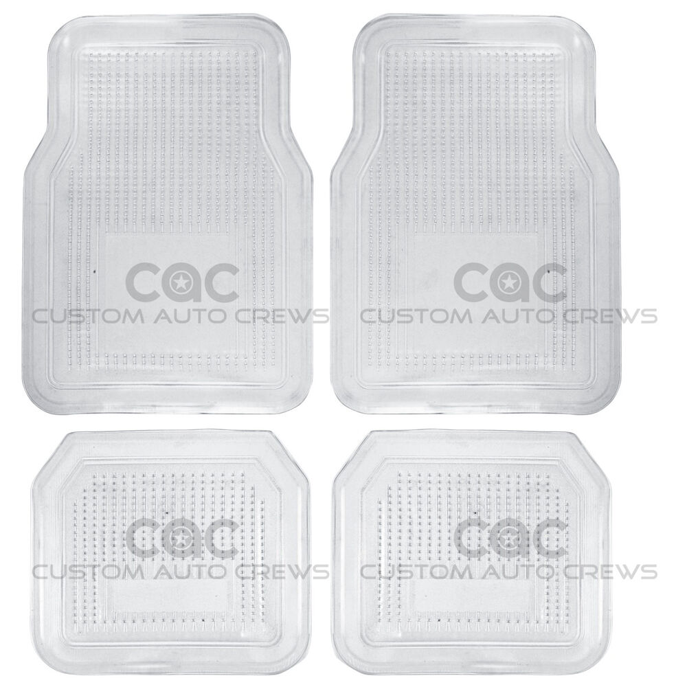 Clear Pvc Vinyl Rubber Floor Mats Liner Set All Season