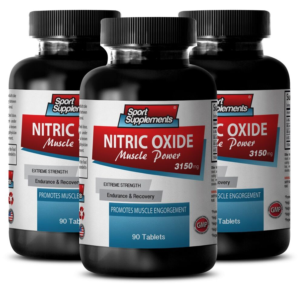 L-Arginine L-Citrulline - Nitric Oxide Muscle Power 3150mg