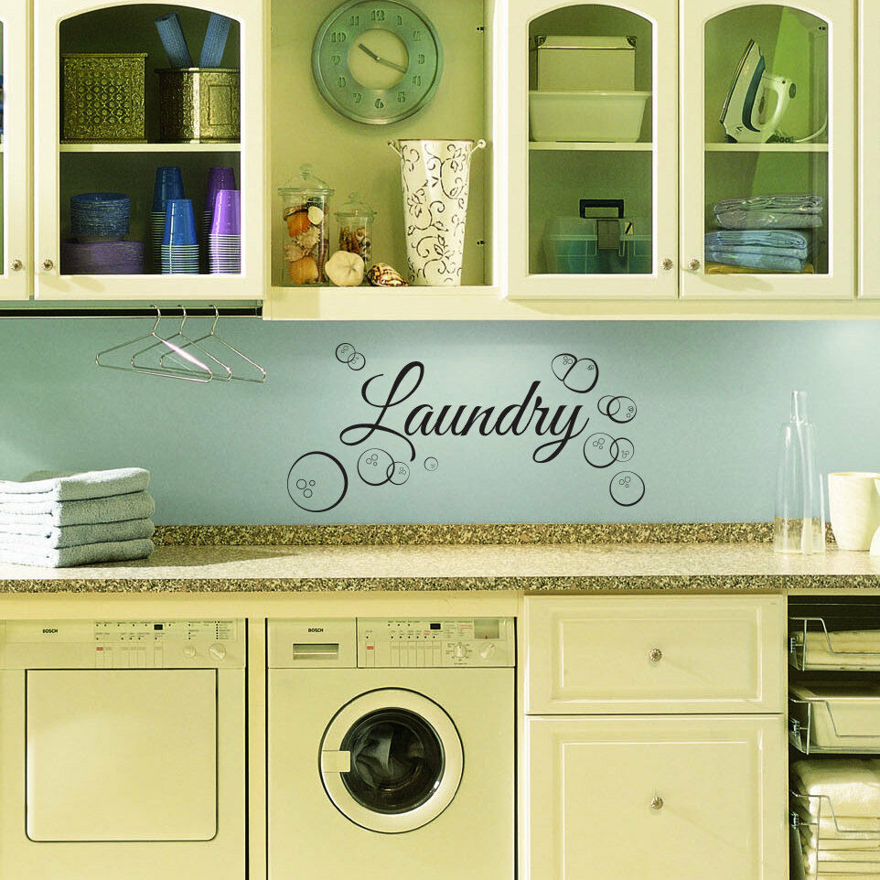 Laundry Room: Custom Wall Decal For Laundry