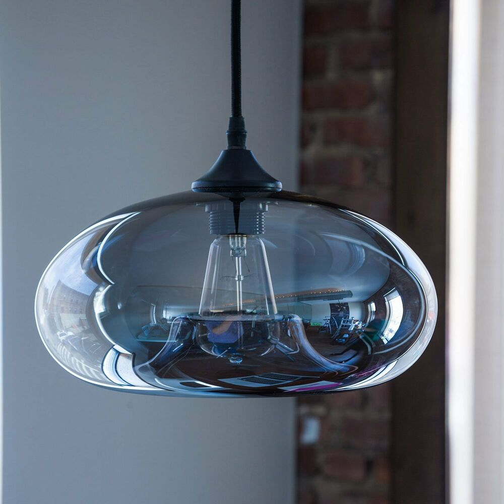Vintage clear glass ball pendant lamp light kitchen - Clear glass ceiling light ...