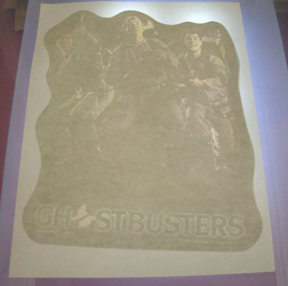 Vintage ghostbusters t shirt iron on transfer ebay for 70 s t shirt transfers