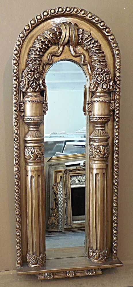 Large Hard Resin Quot 21x51 Quot Ornate Arch Framed Wall Mirror Ebay
