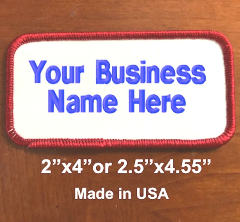 Custom embroidery personalized embroidered name tag 2 for Embroidered tags personalized