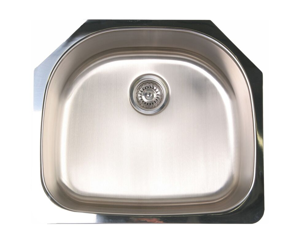 kitchen sink shapes undermount kitchen sink d shape 23x21 18 single bowl 2876