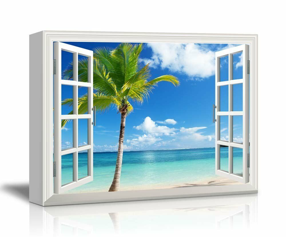 Canvas Print Wall Art- Scenery/Landscape Palm Tree On