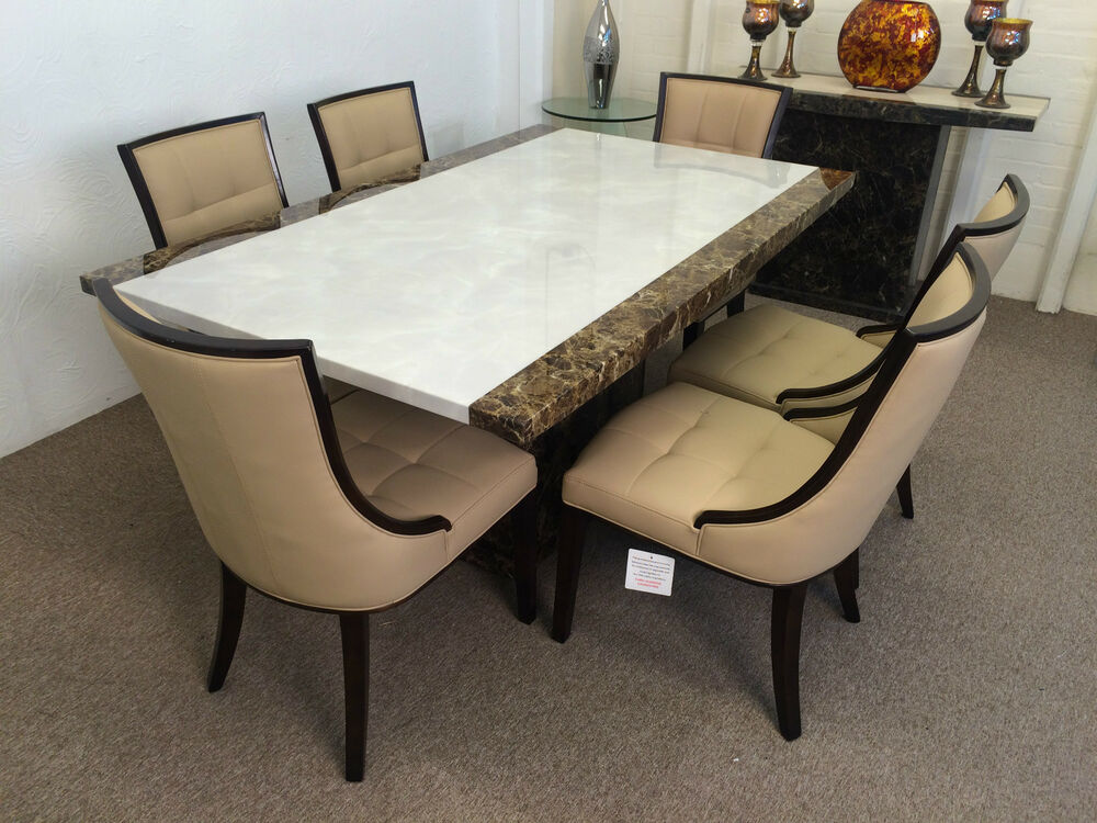 Marble Table And 8 Dining Chairs**Grand Design**Unbeatable