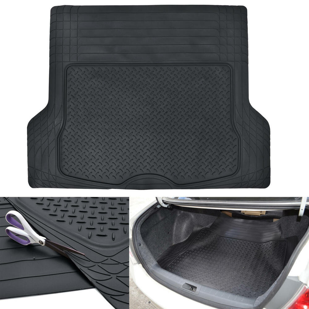 Black Odor Free Trimmable Rubber Tough Cargo Trunk Liner