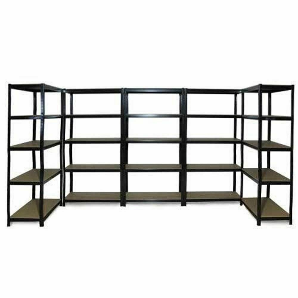 5x 0 9m Black Steel Warehouse Racking Rack Storage Garage