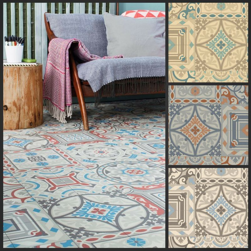 Moroccan style vinyl flooring sheet cushion floor kitchen for Kitchen and bathroom lino