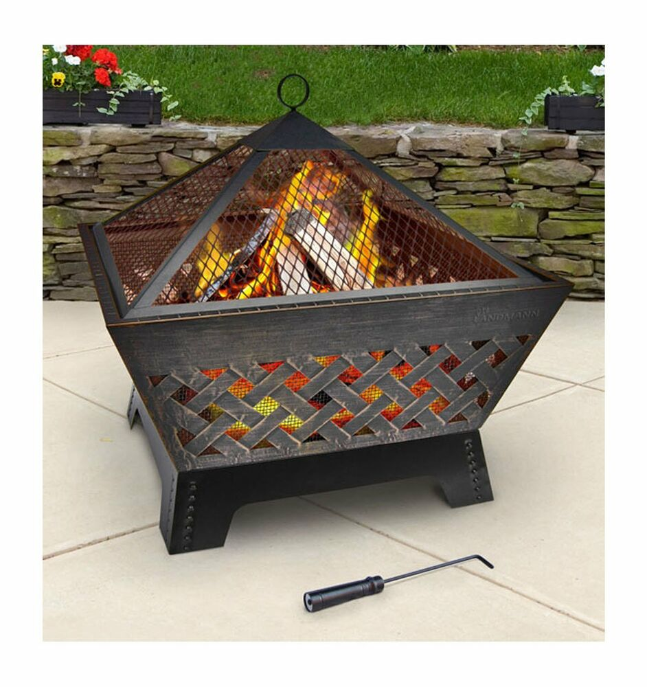 Firepit Chiminea Outdoor Fireplace Patio Wood Logs Cover