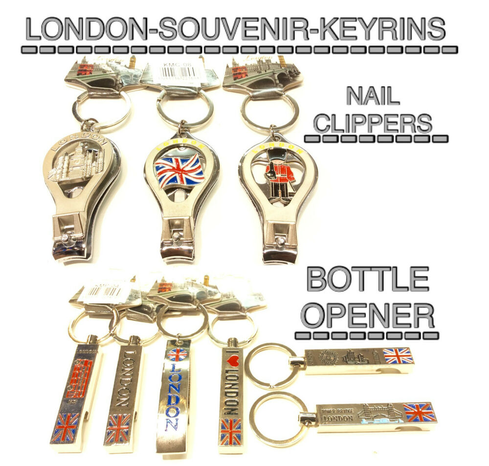 LONDON SOUVENIRS KEYRINGS KEYCHAIN ASSORTED SYMBOL NAIL CLIPPER ...