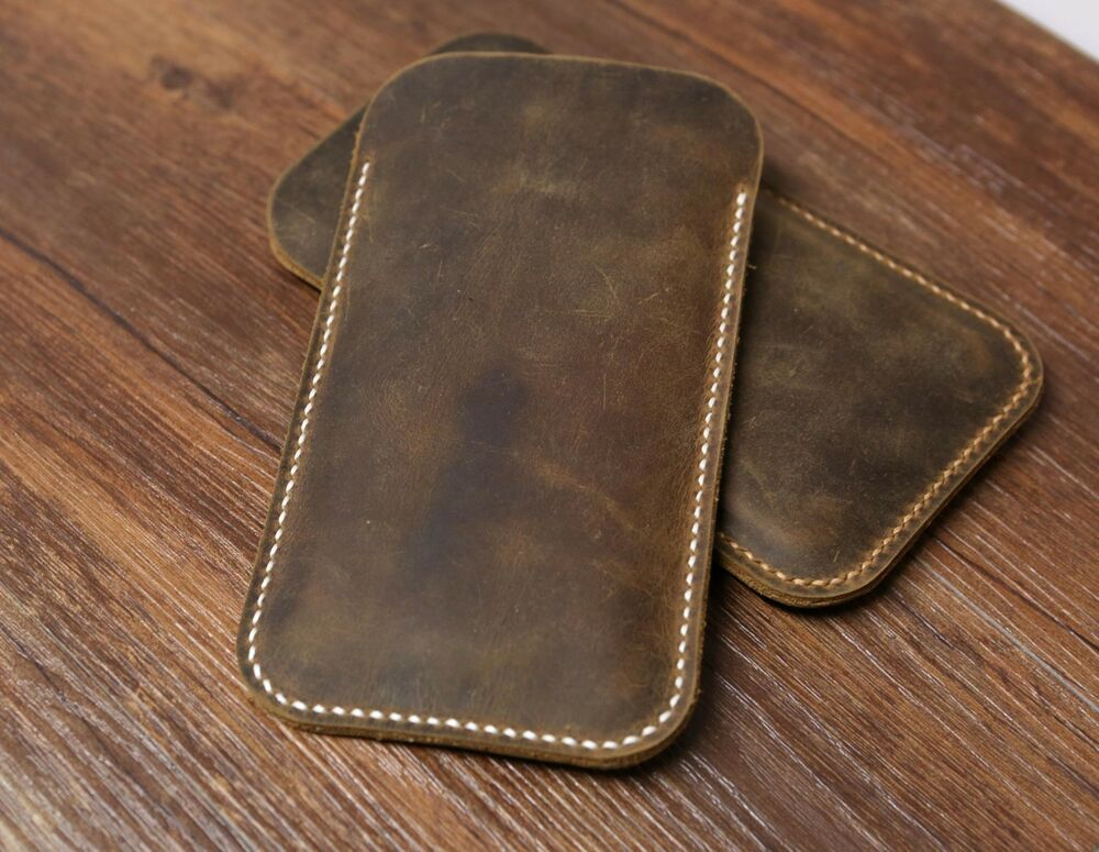 leather iphone case distressed genuine brown leather iphone 6 sleeve 12563