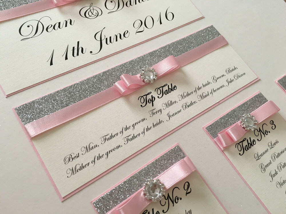 Personalised A3 A2 Glitter Amp Diamante Wedding Seating
