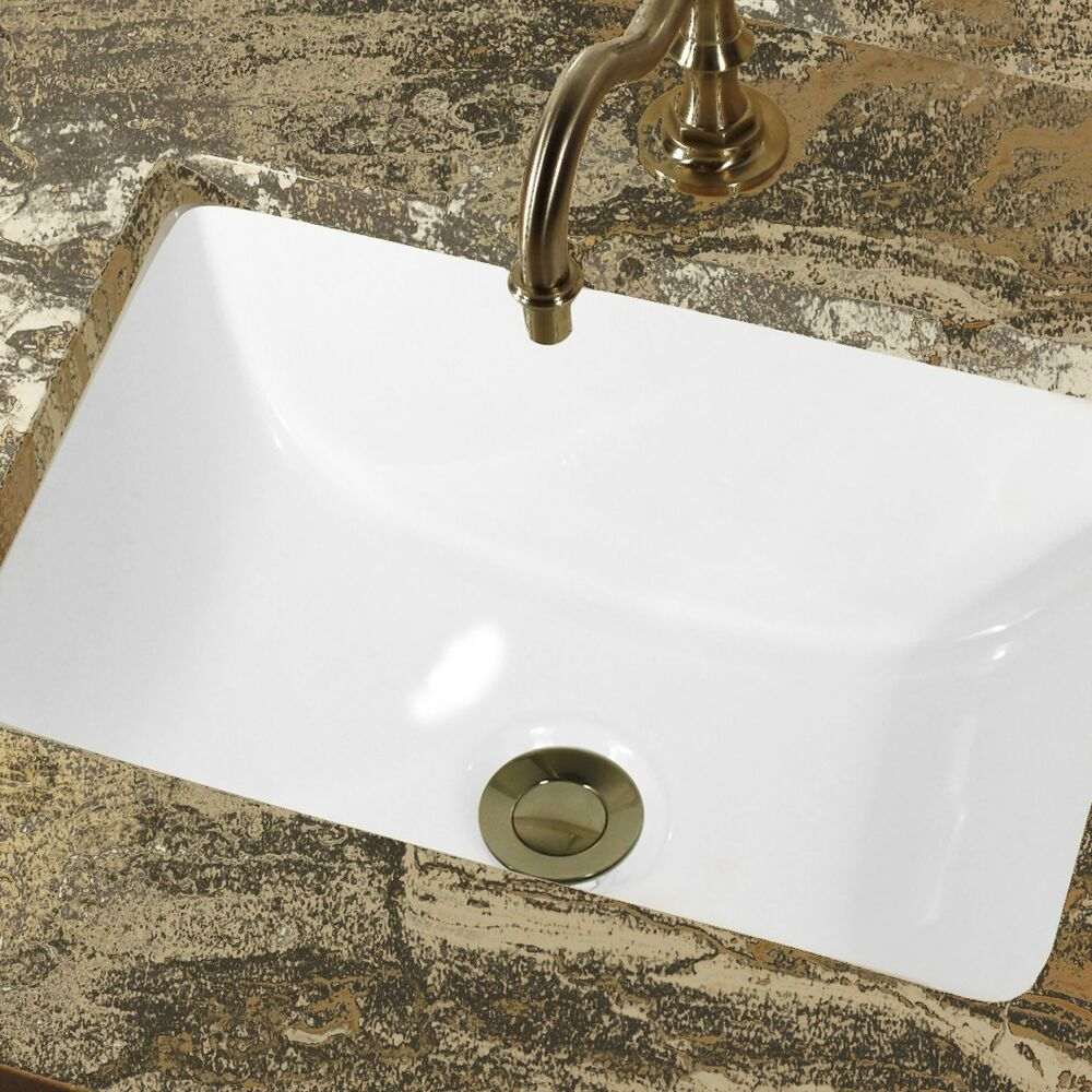 CERAMIC UNDERMOUNT BATHROOM SINK 16 X 11 Rectangle