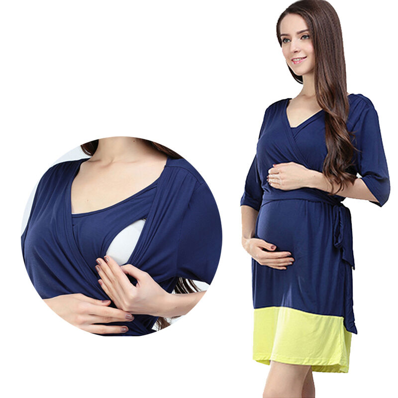 Women Maternity Dresses Pregnancy Breastfeeding Nursing ...