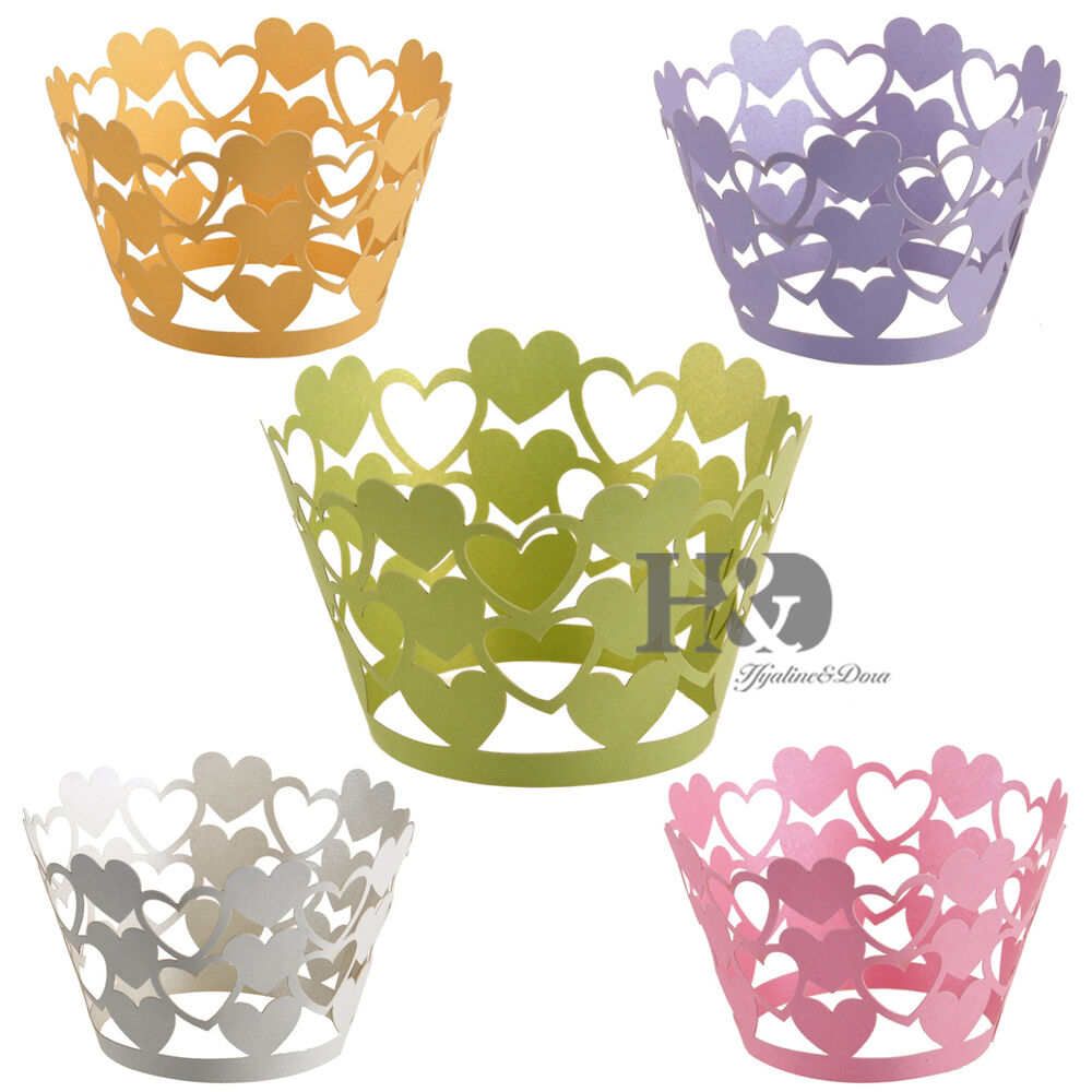 Laser Cut Cupcake Wrappers Liners Wraps Cases Baking Cups ...