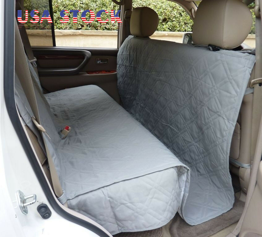 deluxe quilted padded suv car seat cover for dog pet extra large coverage grey ebay. Black Bedroom Furniture Sets. Home Design Ideas