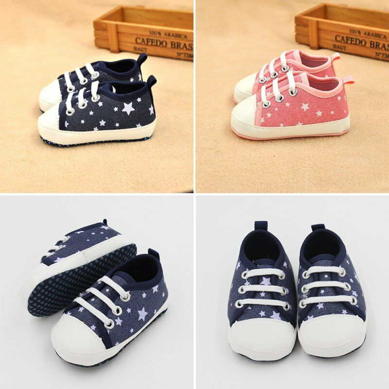Newborn Baby Canvas Shoes Kids Toddler Baby Boys Girls ...