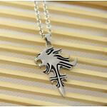 Cosplay Final Fantasy VIII 8 Griever Squall Leonhart Necklace Lion Head Pendant