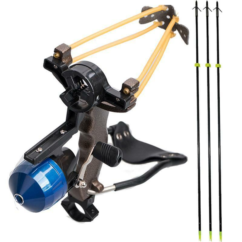 hunting bowfishing slingshot shooting catapult 3pcs