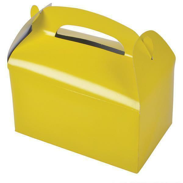 12 Yellow Color Treat Boxes Birthday Party Loot Goody Bags St24 Free Shipping Ebay