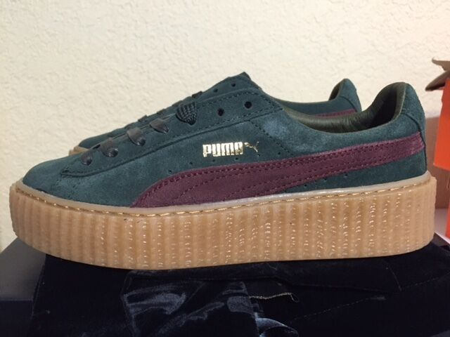 puma x rihanna suede fenty creepers green bordeaux gum women 39 s size 361005 07 ebay. Black Bedroom Furniture Sets. Home Design Ideas