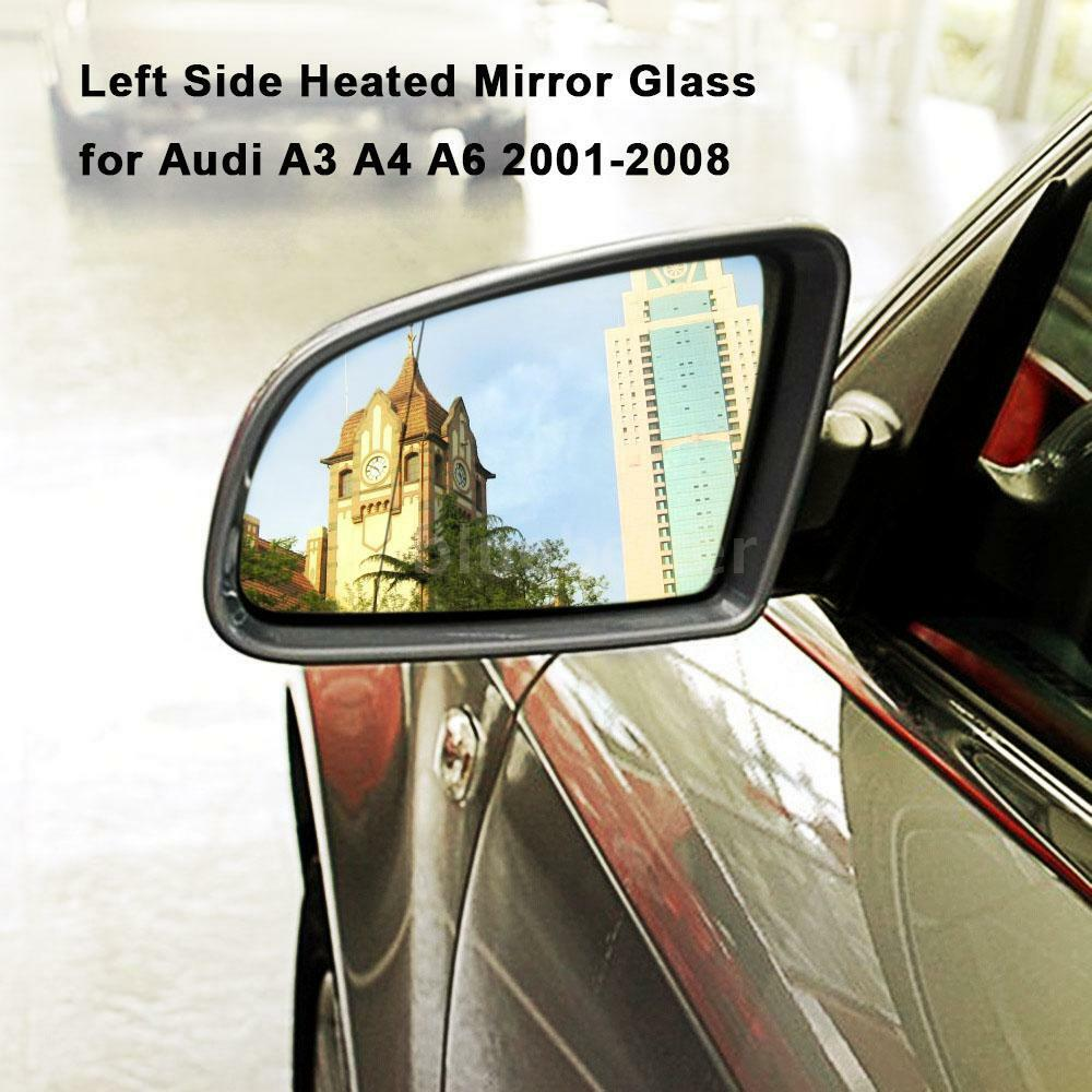 Left Side Heated Rear View Wing Mirror Glass For Audi A3