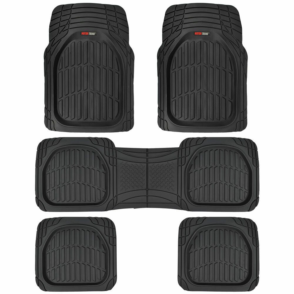 3 Row Rubber Suv Van Car Floor Mats Deep Dish All Weather