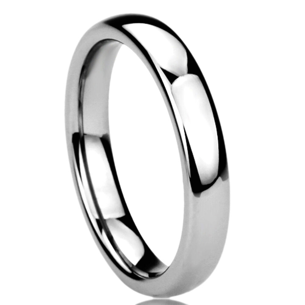 s 4mm titanium comfort fit wedding band domed ring