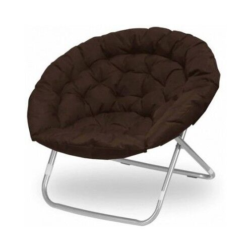 Oversized Oval Chair Living Room Dorm Furniture Brown Teen Bedroom Folding Mo