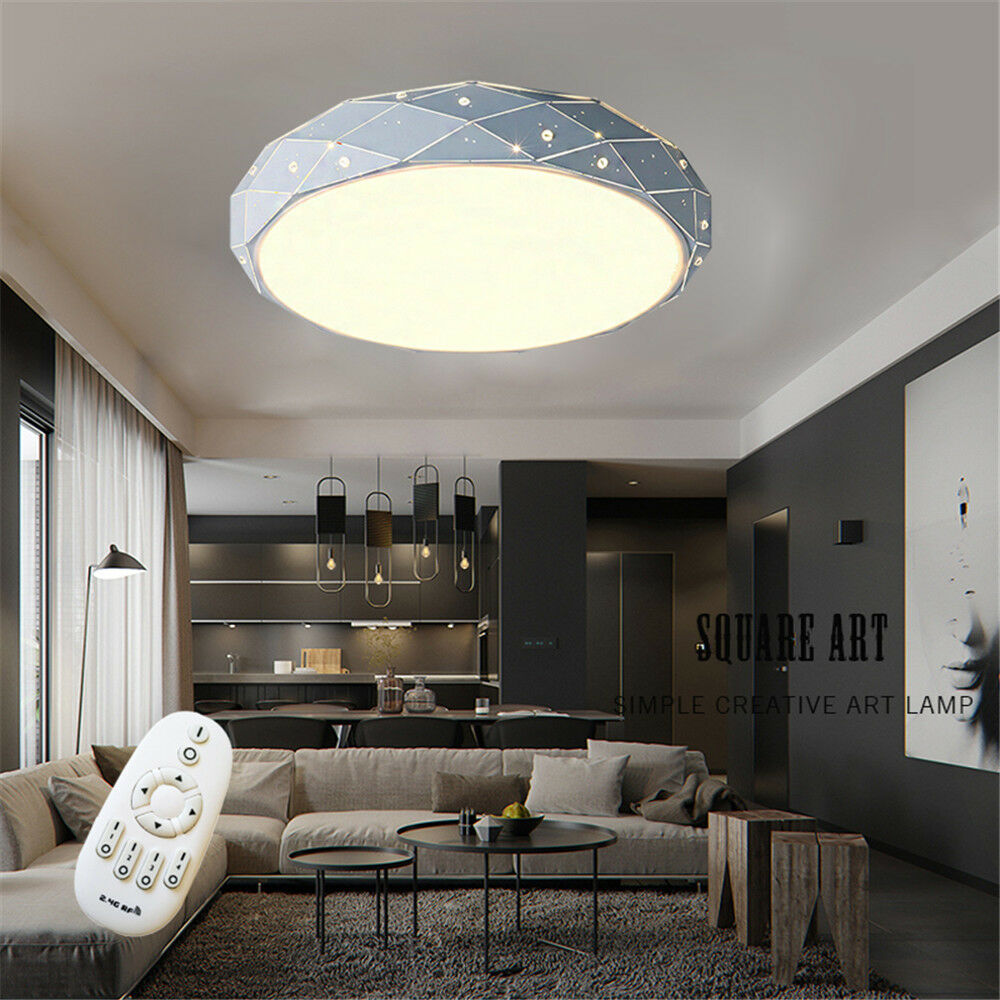 18w 64w led deckenleuchte dimmbar deckenlampe wandlampe flurlampe wohnzimmer ebay. Black Bedroom Furniture Sets. Home Design Ideas