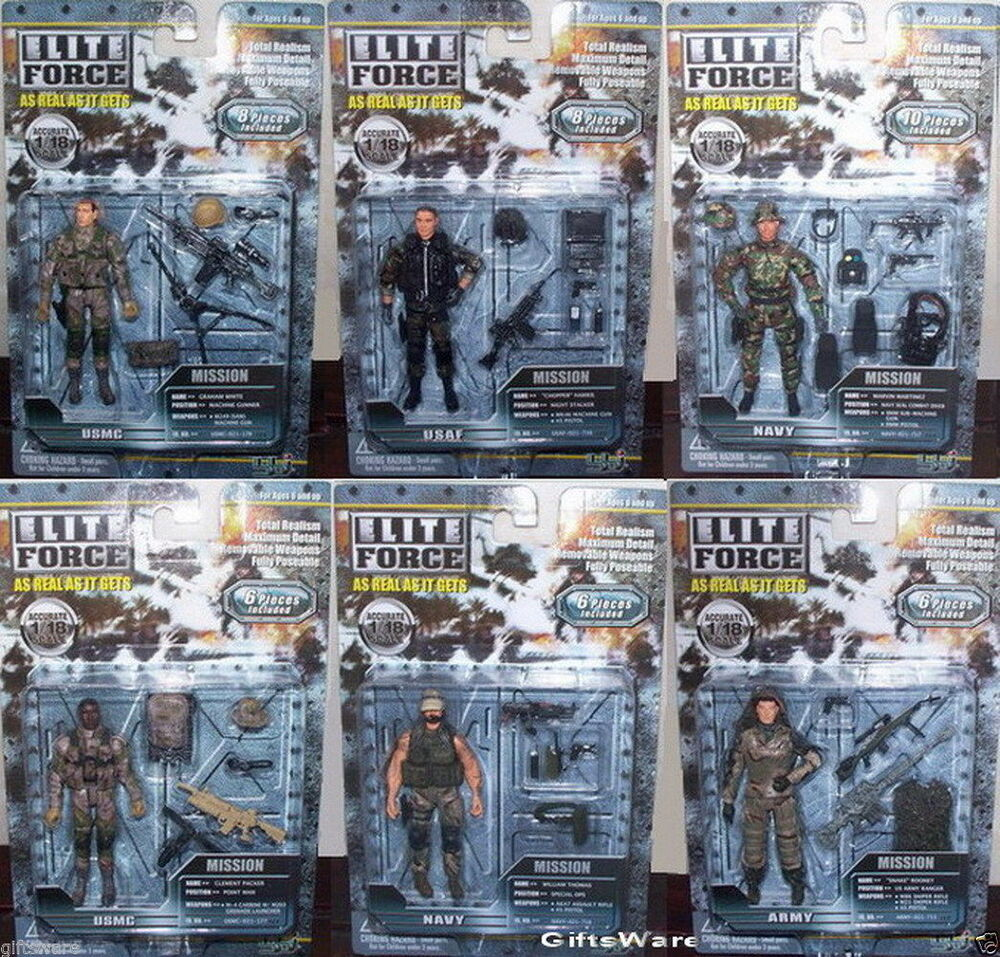 Military Toys Elite Force 1 18 : Bbi elite force u s army action figures pack moc