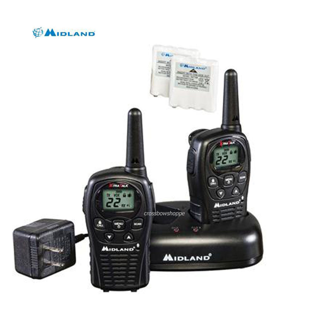 MIdland LXT500VP3 Two Way Radio Walkie Talkie Set 24 Mile Range 2 Pack Set New 46014505209 | eBay