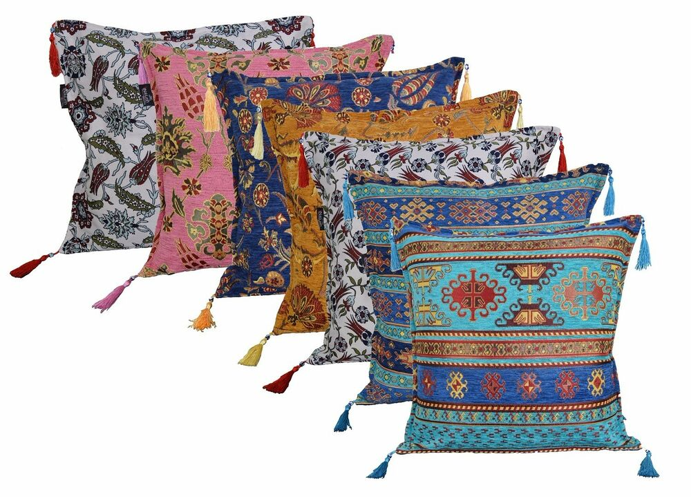 orientalisch asiatisch indisch kissenbez ge kissenh llen baumwolle muster kilim ebay. Black Bedroom Furniture Sets. Home Design Ideas