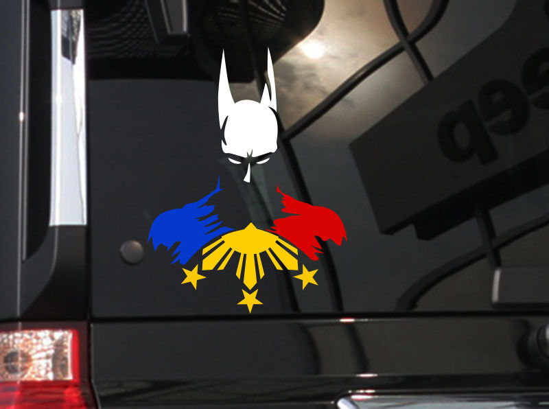 Filipino Vinyl Car Decal Sticker 6 Quot H W Hero Batman And
