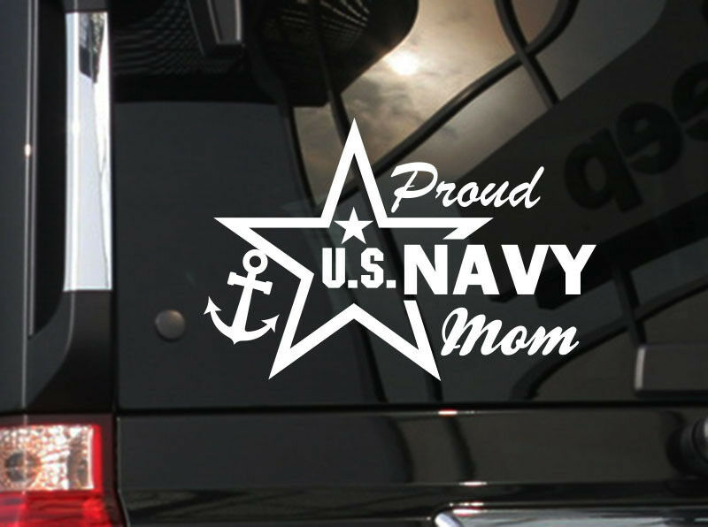 Proud Mom Us Navy Vinyl Car Decal Sticker 7 Quot W With Star