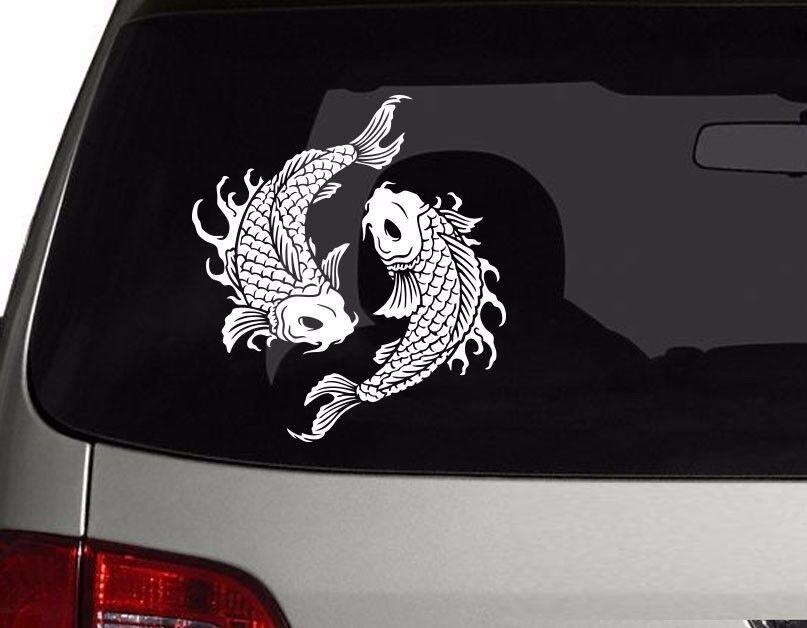 Coy Fish Koi Fish Vinyl Car Decal Sticker 5 75 Quot Height Ebay