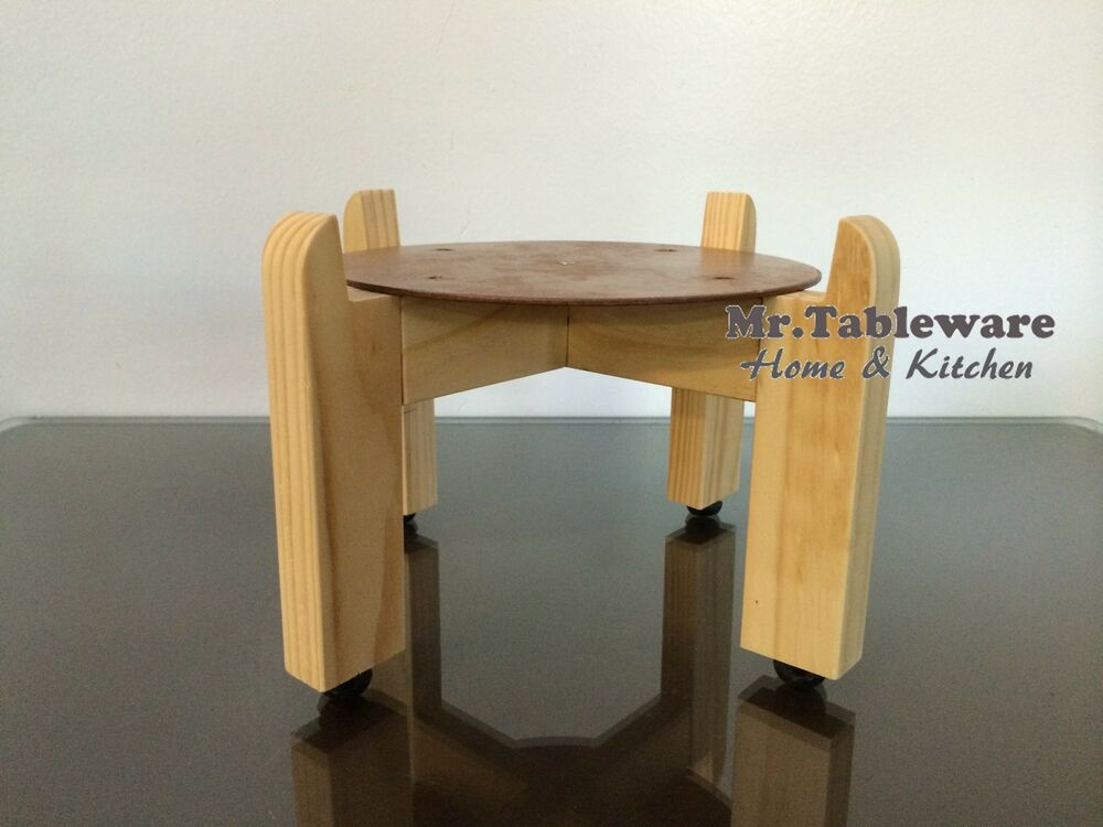 Natural Wood Counter Stand For Porcelain Ceramic Water
