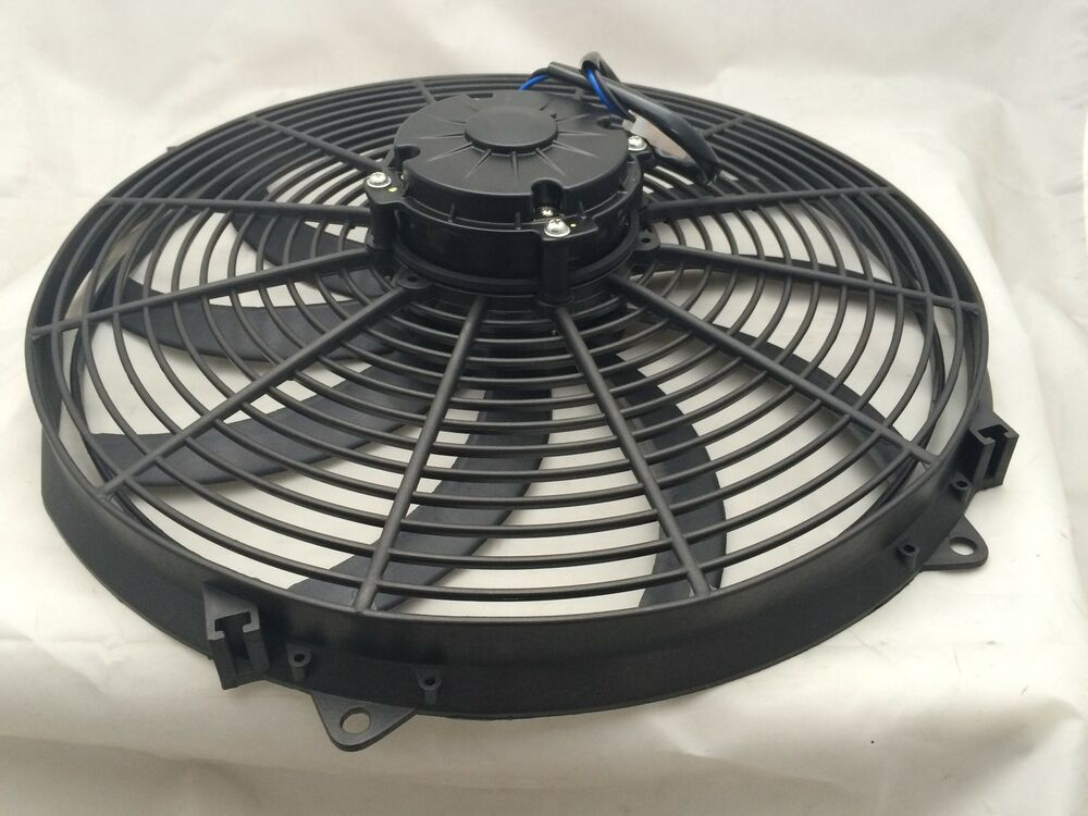 Electric Cooling Fans : Inch v black electric cooling fan performance thermo