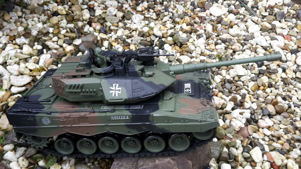 rc panzer leopard 2 mit schuss und sound 1 20 ebay. Black Bedroom Furniture Sets. Home Design Ideas