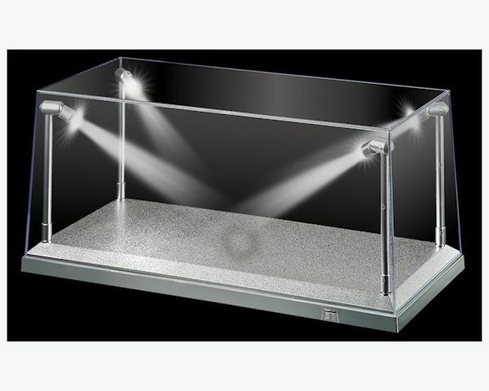 Dda Display Case Box Show With Led Light Silver Base For Cast Models 1 18