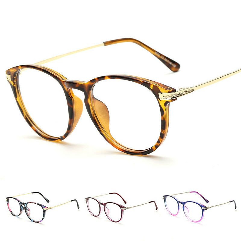 Eyeglass Frame Latest : Vintage Eyeglass Full Rim Frame Clear Glasses Retro ...